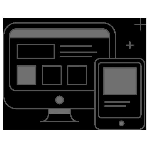 Bild von Computer und Tablet