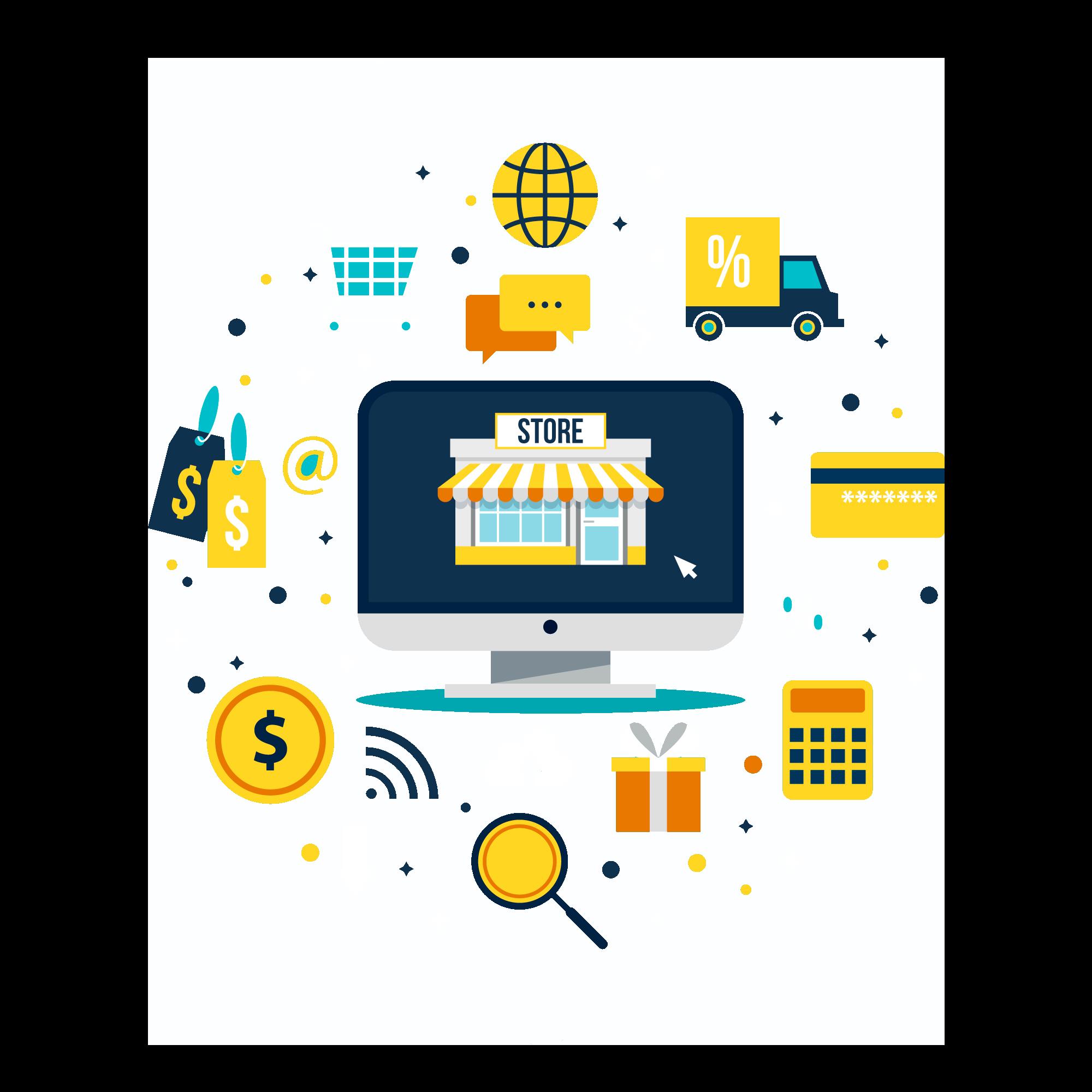 icon mit Online Shop