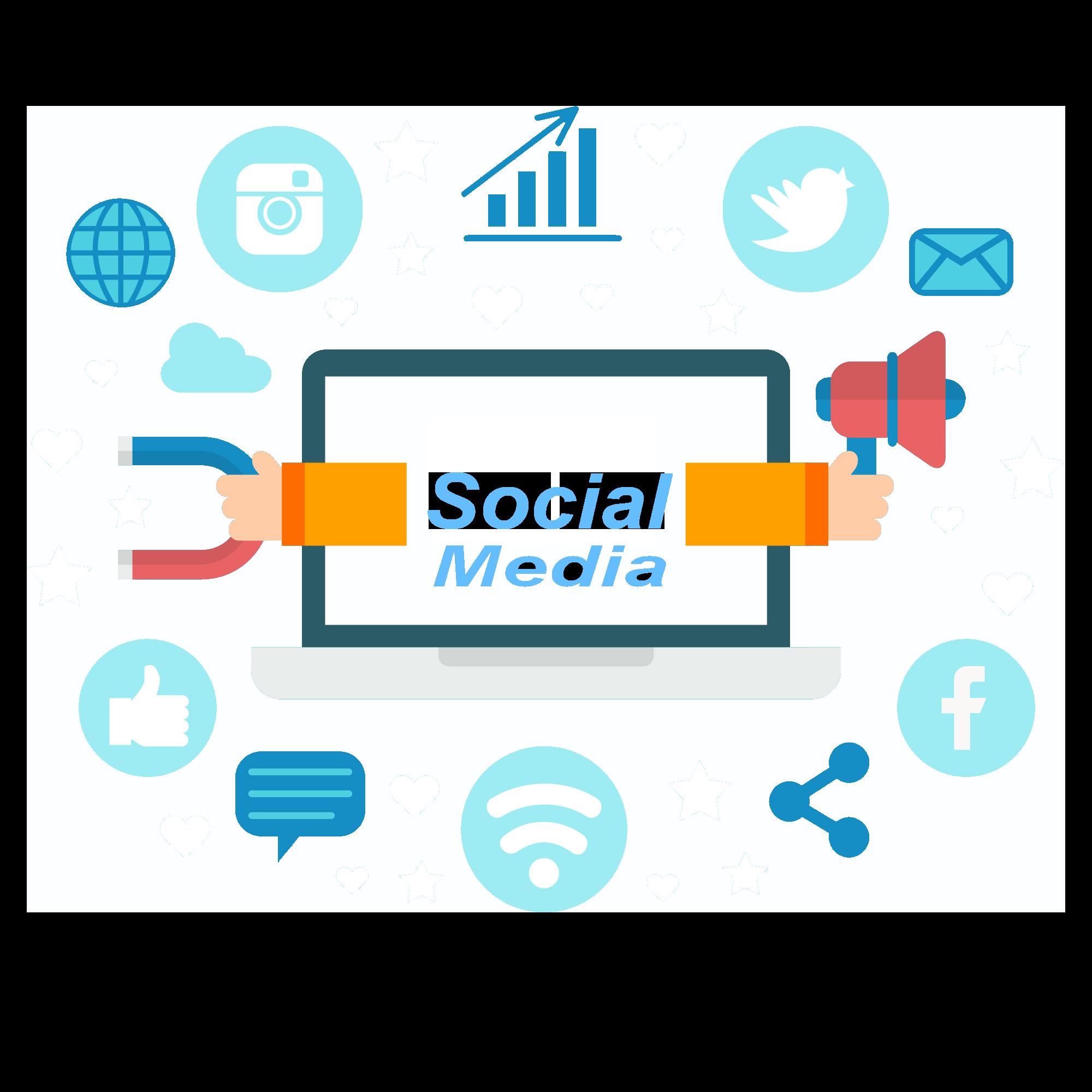 icon mit Social Media